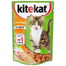 Корм для кошек консервиров.Kitekat курица в желе 85г*28