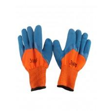 Перчатки Зимние ультра вспен.синяя ладонь 12шт