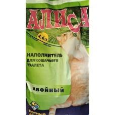 """Наполнитель 4,6л для кошачьего туалета /4шт """"ХВОЙНЫЙ"""" АЛИСА"""