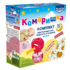 Комплект от комаров 30 ноч фумигатор+жидкость (15шт ) Комаришка