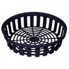 Корзина для луковичных круглая черная h 8см d30см пласт (25шт)