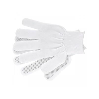 Перчатки нейлоновые точка L (белые) (10шт)